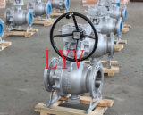 Válvula de esfera de Trunion do aço inoxidável (válvula de controle)