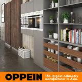 Eindigt de Houten Keukenkast van de Luxe van Oppein met Gesinterde Oppervlakte (OP16-SIN01)