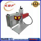 machine de gravure portative de laser de la fibre 30W sur l'acier inoxydable avec rotatoire