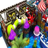 Campo de jogos interno no grande conceito do tamanho e da idade de gelo