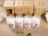 Vela natural personalizada de la soja como regalo con el rectángulo hermoso