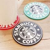 流行の昇進のギフト単一デザインStarbucksのシリコーンのコップのマット