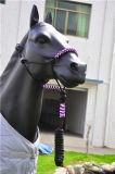 鉛の革ストリップの端が付いている編みこみのPPの馬のホールター