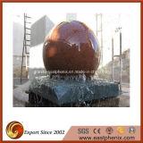 Piedra natural del mármol/del granito que talla música del agua/la fuente de la estatua de la bola para el jardín/la pared/al aire libre