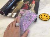 De vloeistof schittert Geval van PC van het Hart van het Drijfzand van het Zand het Glasheldere voor iPhone6