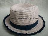 Sombrero de paja mezclado del sombrero de ala de la trenza de papel del color