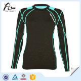 女性のカスタムスポーツの摩耗の圧縮のワイシャツ