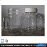 De Kruik van de Metselaar van het Glas van Fashinable met het Deksel en het Stro van het Metaal