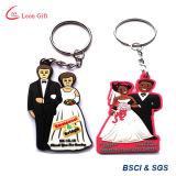 신부와 신랑 PVC Keychain를 제초하는 공장 관례