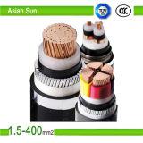 PVC силового кабеля высокого качества 2cores/3core изолировал обшитое 300/500V