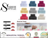 Cotone 100% Yarn Dyed Bath Towel Sets con Satinborder