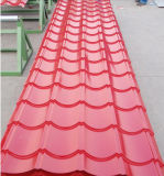 1050mm/840mm corrugou a folha de aço galvanizada PPGI da telhadura
