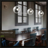 Luzes Pendent do partido da barra do diodo emissor de luz das iluminações E27 novidade Pendent de vidro das lâmpadas da bolha de sabão da breve