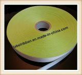 Fita tecida única impressão do cetim do poliéster da borda da etiqueta de Oeko-Tex lateral dobro (SW500)