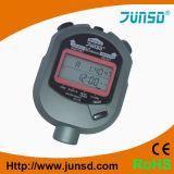 Reloj del termómetro del cronómetro de la alarma de la exhibición de la Dos-Fila (JS-519)