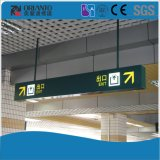 Manera de la estación de tren que encuentra el LED el suspender del rectángulo ligero