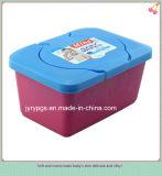 Limpezas molhadas embaladas da caixa plástica da alta qualidade