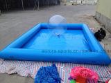大きく青い正方形の膨脹可能なプール