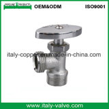 Válvula de esfera de bronze cromada qualidade personalizada do ângulo (AV3018)