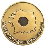 monedas del desafío del esmalte 3D, monedas dobles memorables de las caras, monedas de la aleación para los regalos
