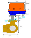 DN50 3 vías motorizada Válvula de bola de latón L / T Tipo (BS-898-50S-1)