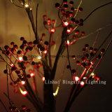LEDの屋内軽い電池式のテーブルの上のクリスマスの装飾的な雪の木ライト