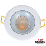 7W調節可能なダイカストで形造るアルミニウム穂軸LED Downlight