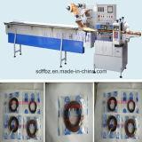 Tipo rotatorio empaquetadora de goma automática llena del flujo de la junta