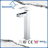 Gesundheitliche Ware-chromierter Badezimmer-Bassin-Messinghahn (AF3781-6)