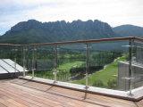 Системы Railing самомоднейшей конструкции структурно стеклянные/стеклянных балюстрады для напольного балкона