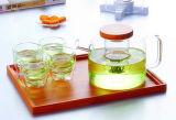 Hauptqualitätsglastee-Potenziometer-Tee-Set mit Filter