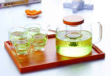 Conjunto de té de cristal del crisol del té de la calidad primera con el filtro