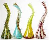 매트릭스 Perc 두 배 샤워 꼭지 다채로운 유리제 연기가 나는 수관
