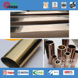 Tubulação de aço inoxidável de Materails Ss201/301/304/316 do edifício