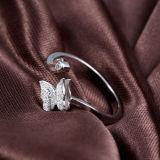 Anel Borboleta-Shaped da abertura da prata esterlina da menina 925