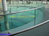 Porch Fence Structural Glass, Customized Tempered/Laminated Clear Float Glass