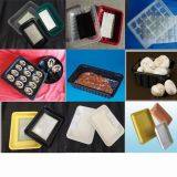 Bandejas plásticas baratas feitas sob encomenda do serviço do empacotamento de alimento da manufatura de China