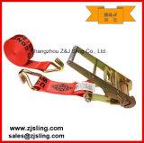 """A cinta da catraca/amarra para baixo com ganchos 3 de """" vermelho do fio X 20 '"""