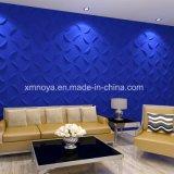 현대 벽 예술 장식 내부를 위한 파란 3D 벽면