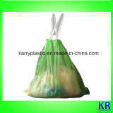 Sacchetto di immondizia dell'HDPE con Drawtape, sacco di plastica dei rifiuti