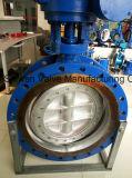 Dn800 Ss304 Platten-Doppelt-Flansch-Drosselventil mit Getriebe