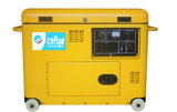 Профессиональный тепловозный молчком генератор Fy6500 с колесом