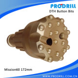 Unten The Hole/DTH Drill Rock Button Bit für Drilling/Mining/Hammer