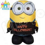 Kundenspezifisches Inflatable Happy Halloween Minion für Sale