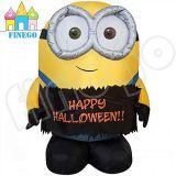 Douane Opblaasbaar Gelukkig Halloween Minion voor Verkoop