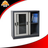 Gleitendes Glas-Tür-Metallstahlschrank-niedriger Aktenschrank