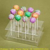 Présentoir acrylique de lucette, support acrylique de bonbon à sucrerie