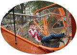 Patio al aire libre de los niños de Kaiqi combinado con el canal neto de Stainles, diapositivas tan bien como otros juegos (KQ60123A)