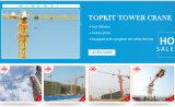 Кран башни Qtz63 Mingwei-Конструкции Shandong (5610) с максимальной нагрузкой: длина кливера 6t/: 56m
