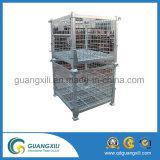 Lager galvanisierte Maschendraht-Hochleistungshersteller-China-Speicher-Rahmen-Behälter mit Fußrolle